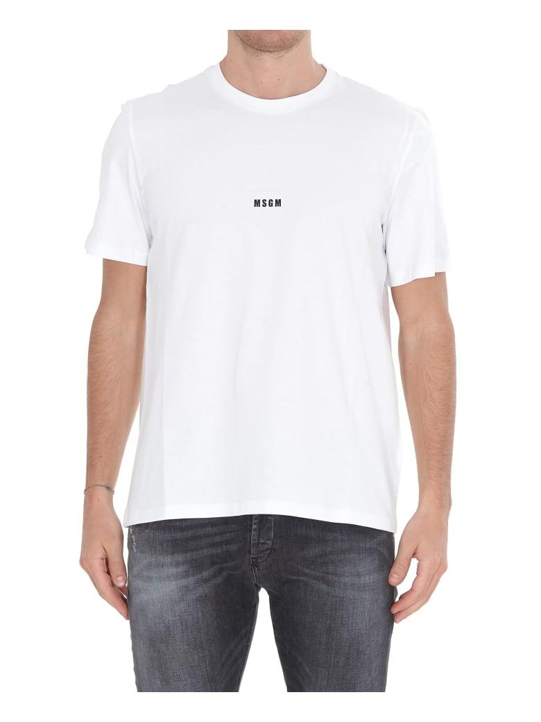MSGM Micro Logo Tshirt - OPTICAL WHITE