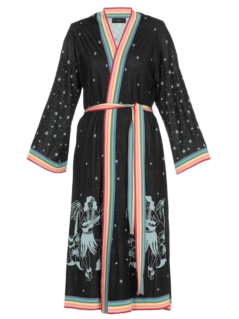 Alanui Hawaiian Map Kimono - EMBASSY BLACK M