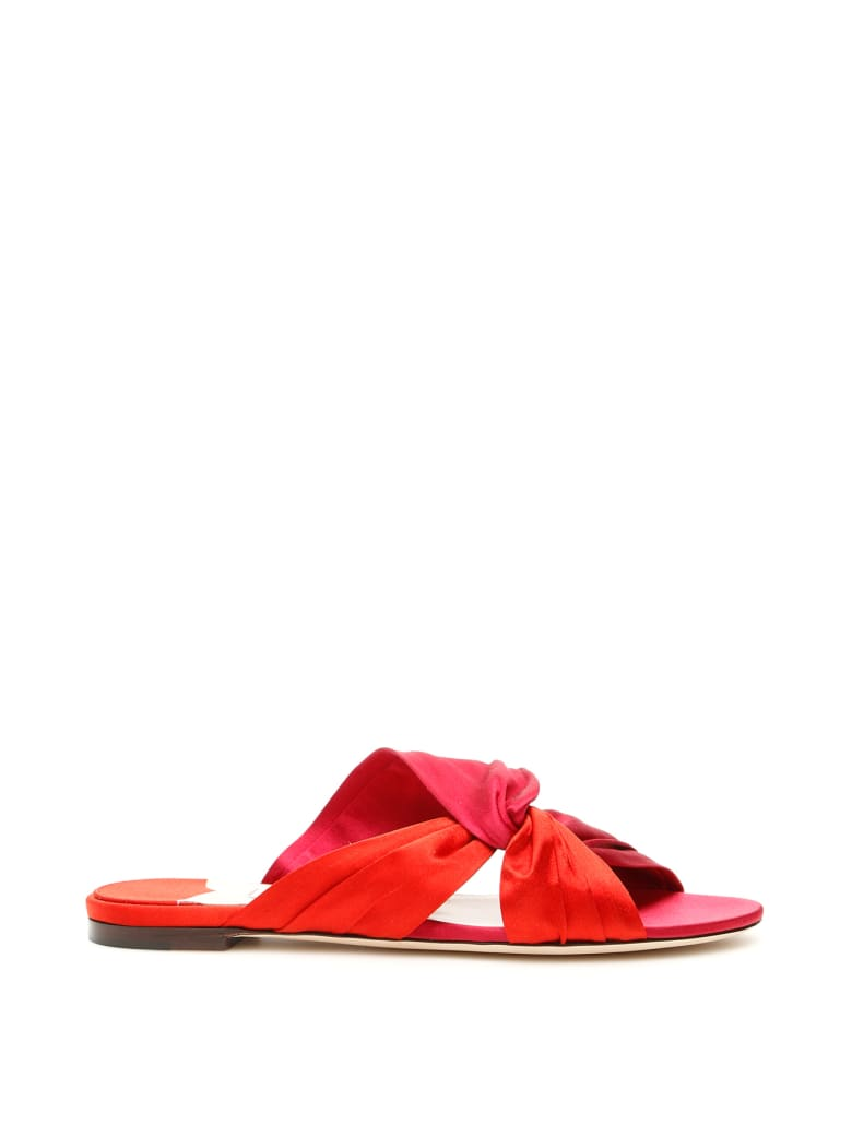 Jimmy Choo Lela Flat Sandals - CHILLY MIX (Red)