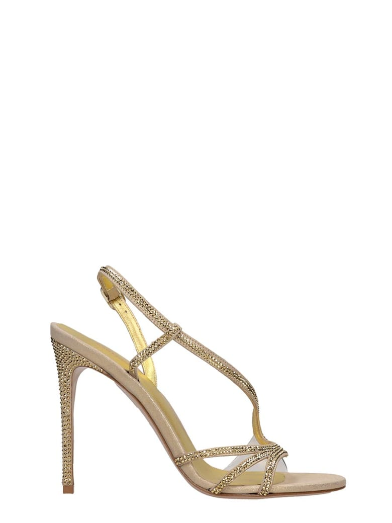 Le Silla Sandals In Gold Leather - gold