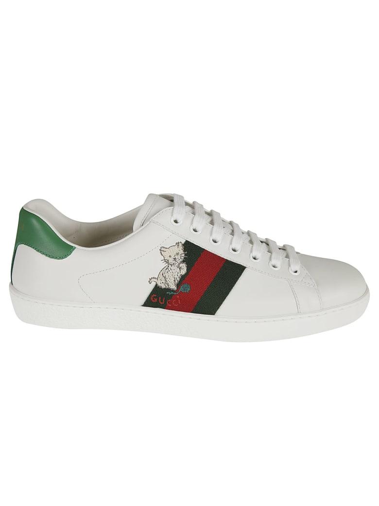 Gucci Web Stripe Logo Sneakers - White