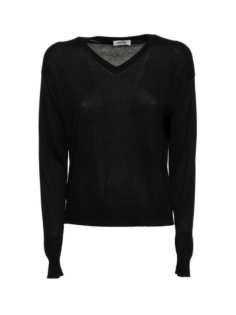 Base Base Milano Black Sweater - NERO