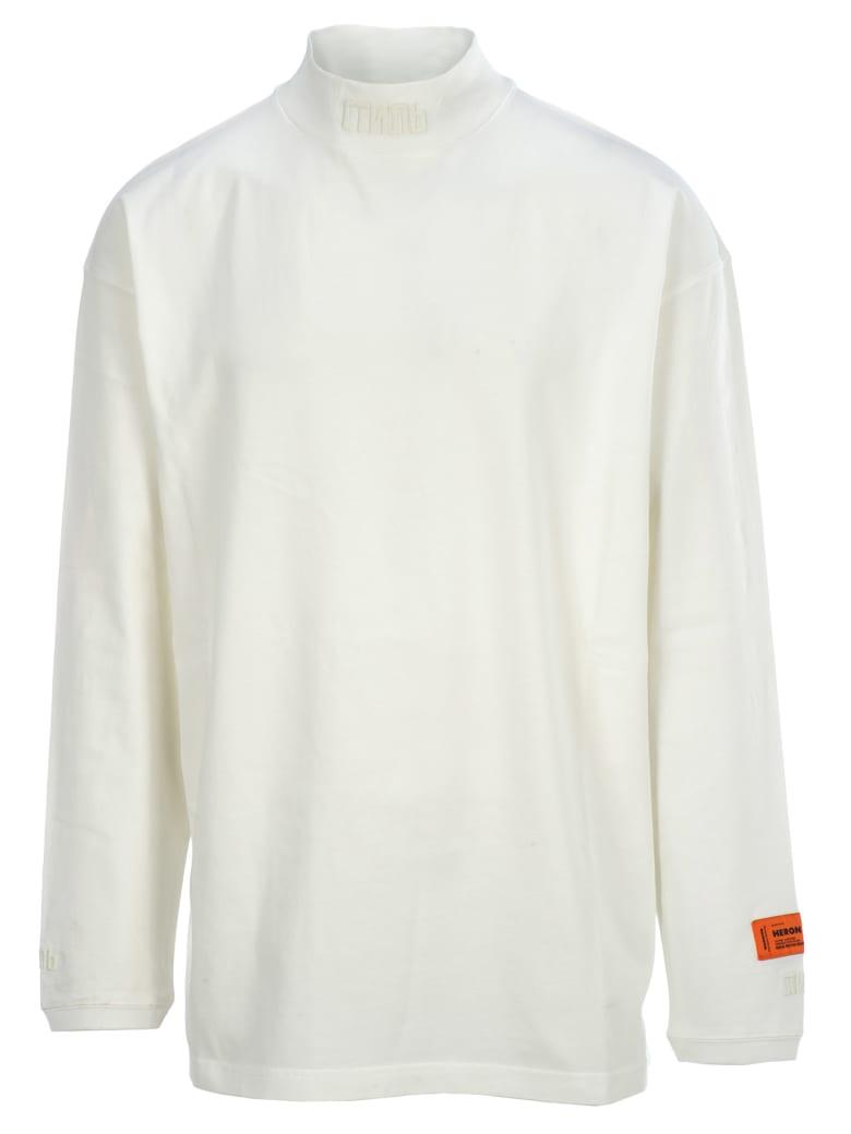 HERON PRESTON Turtleneck Ctnmb T-shirt - WHITE