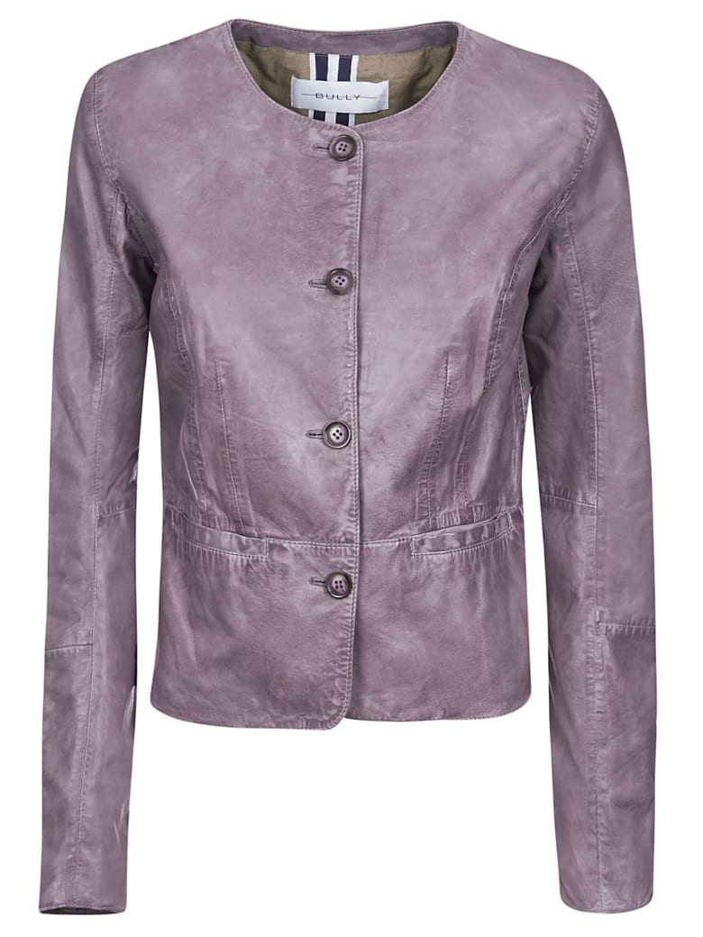 Bully Vintage Leather Jacket - Viola