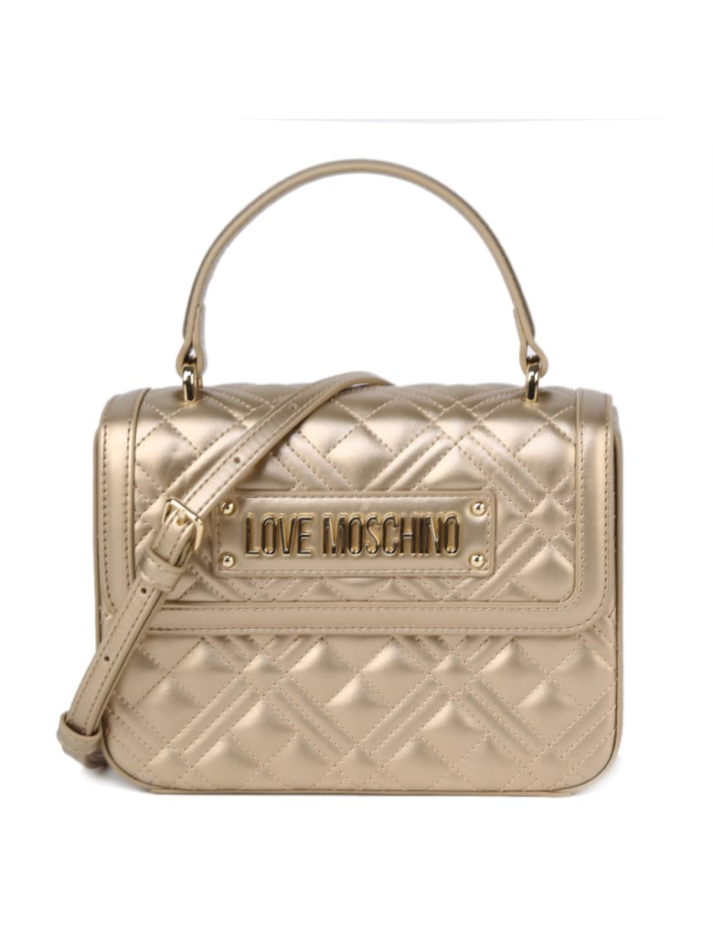 Love Moschino Love Moschino Quilted Faux Leather Bag - Chanmpagne