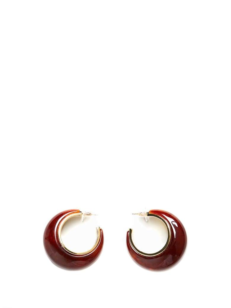 Cult Gaia Mona Hoop Earrings - Brown