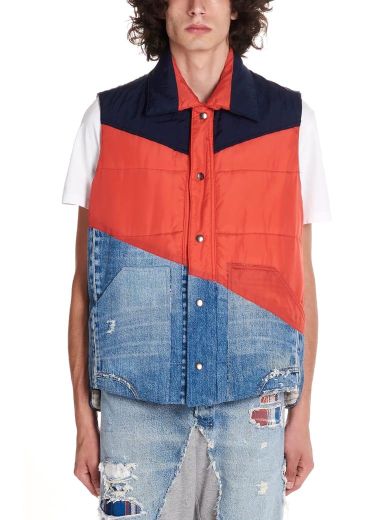Greg Lauren '50/50' Vest - Multicolor
