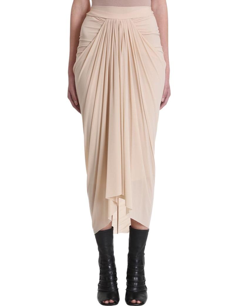 Rick Owens Lilies Nude Draped Skirt - powder