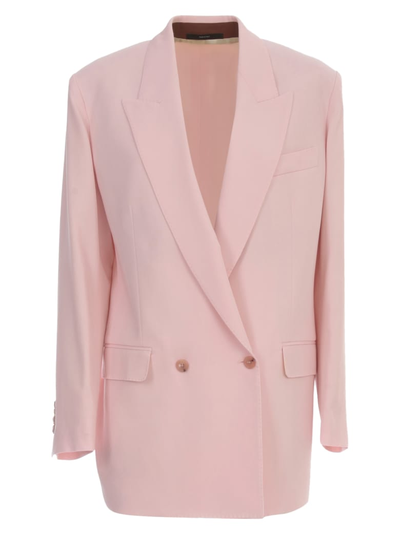 Paul Smith Jacket Double Breasted Wool - Rosa