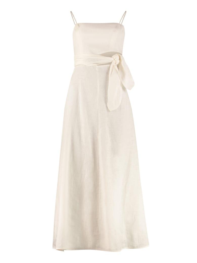 Zimmermann Amelie Linen Maxi Dress - panna