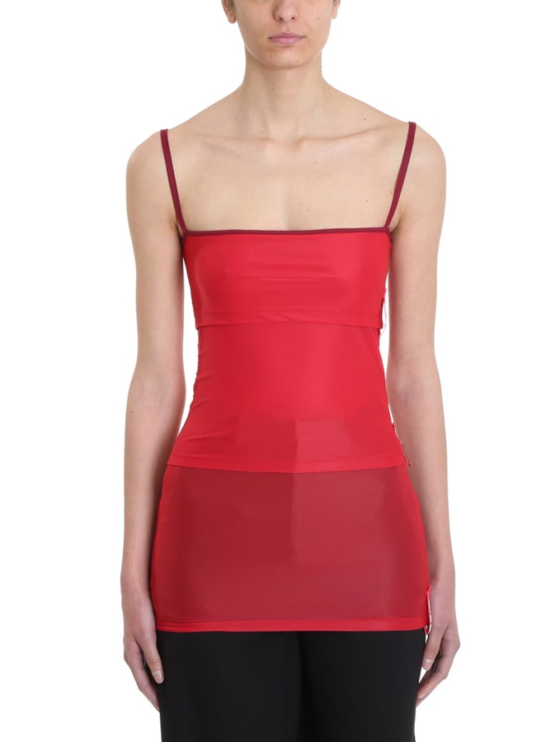Y/Project Red Layered Tank Top - red