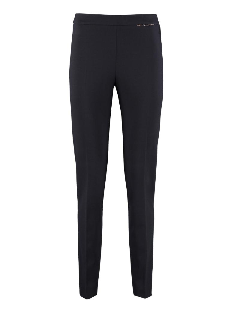Max Mara Studio Polis Slim Fit Tailored Trousers - blue