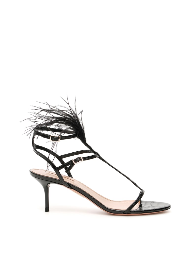 Aquazzura Ponza 60 Sandals - BLACK (Black)