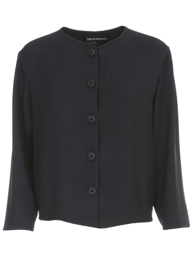 Emporio Armani Jacket Blouson - Blu Navy