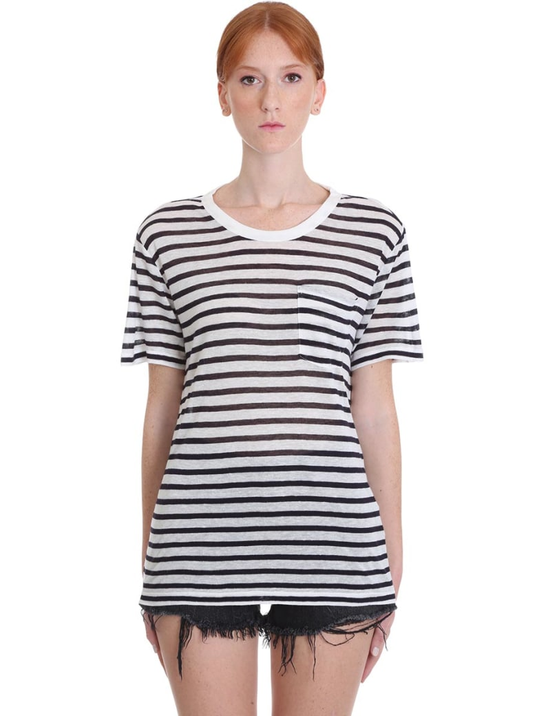 T by Alexander Wang Classic Stripe Pocket Tee - blue