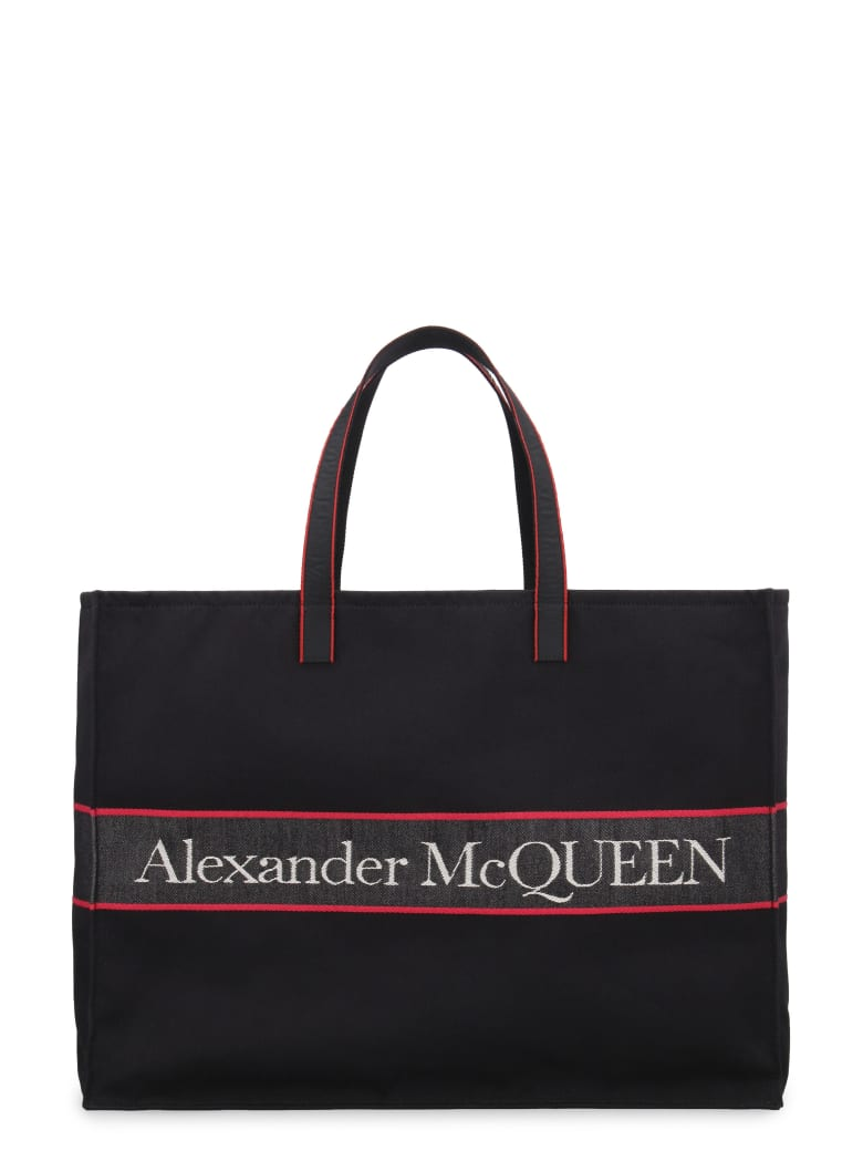 Alexander McQueen Canvas Tote Bag - Nero