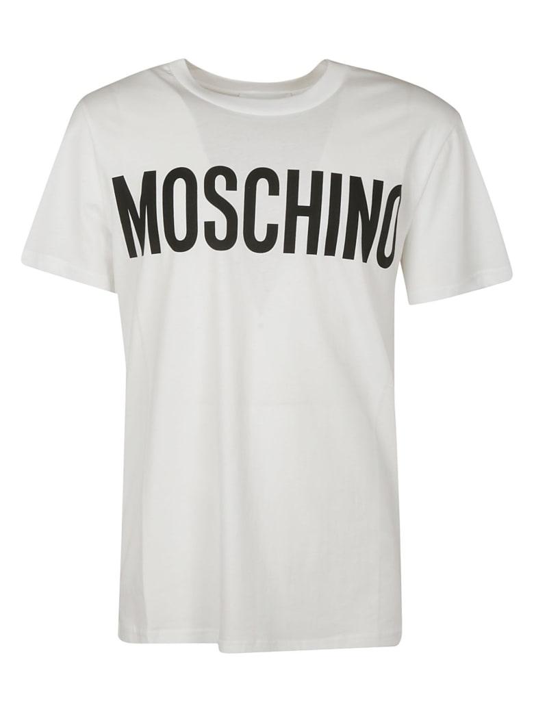 Moschino Front Logo Print T-shirt - white