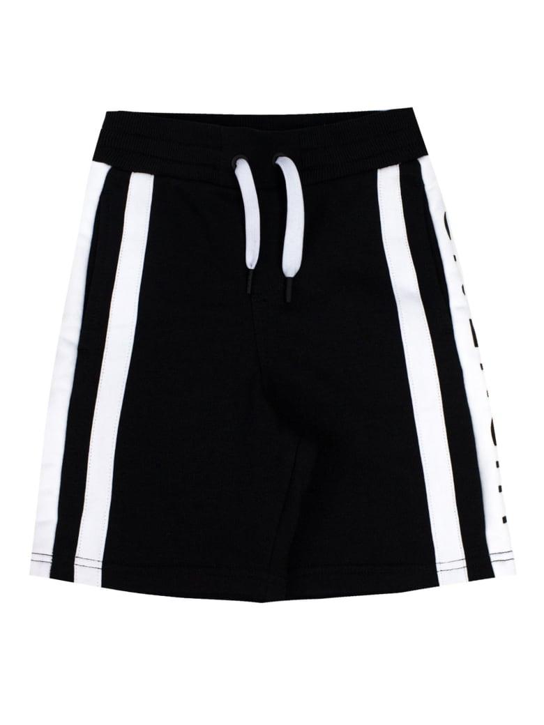 Givenchy Black Cotton Logo Jersey Shorts - Nero