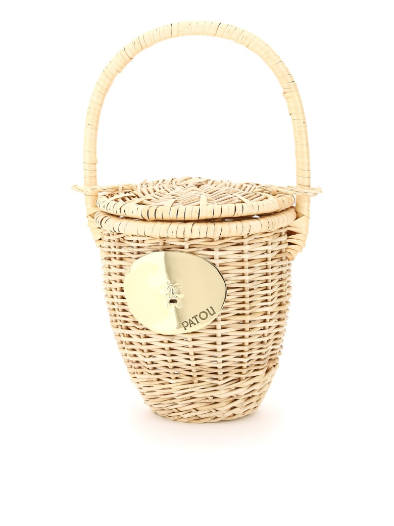 Patou Wicker Basket Bag - VANILLA (Beige)