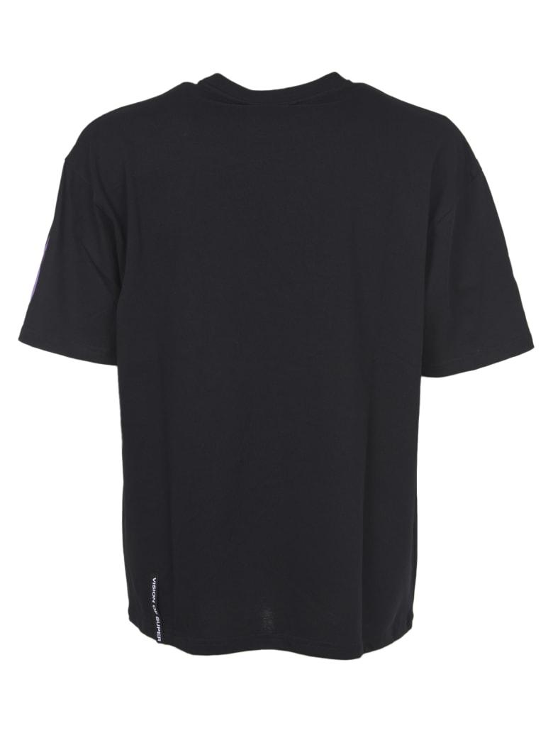 Vision of Super Purple Flames T-shirt - Black