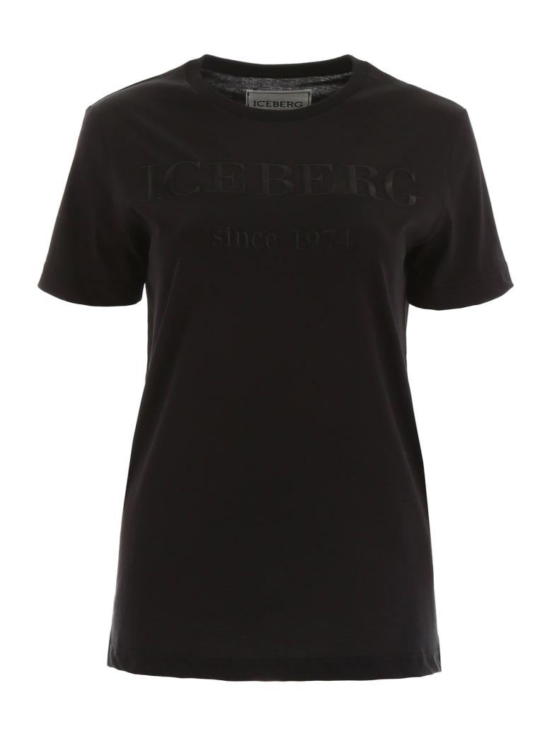 Iceberg T-shirt With Logo Embroidery - NERO (Black)