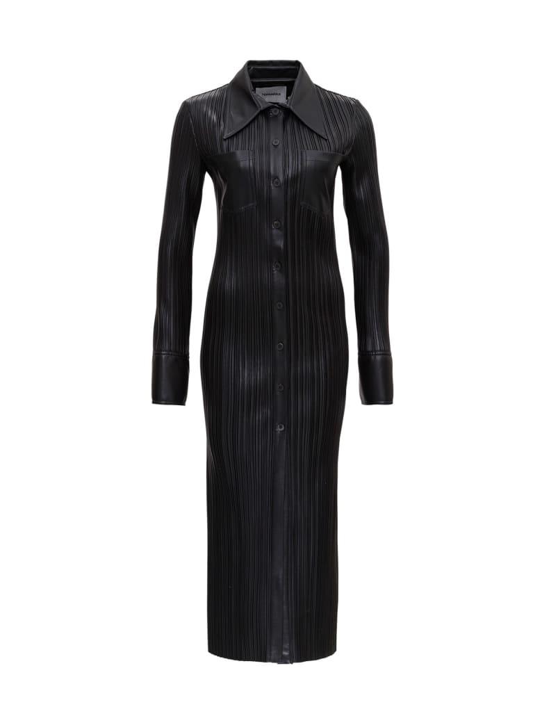 Nanushka Pleated Leatheret Dress - Black
