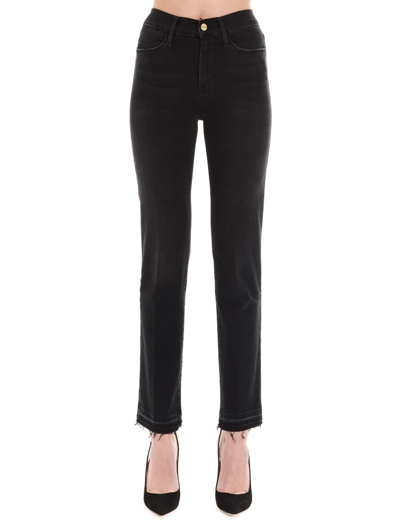 Frame 'le High Straight' Jeans - Black