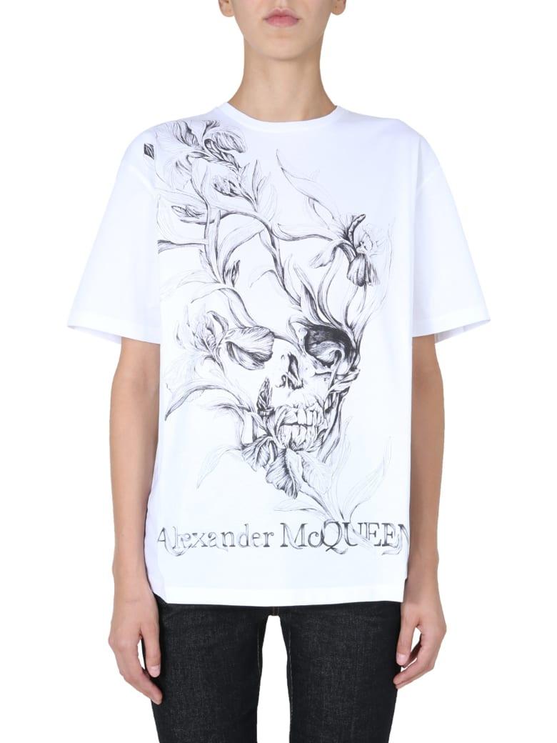 Alexander McQueen Crew Neck T-shirt - BIANCO