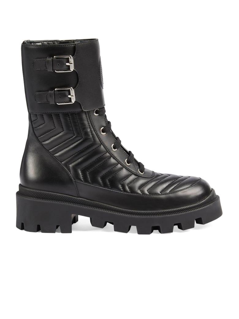Gucci Black Leather Boots - Nero