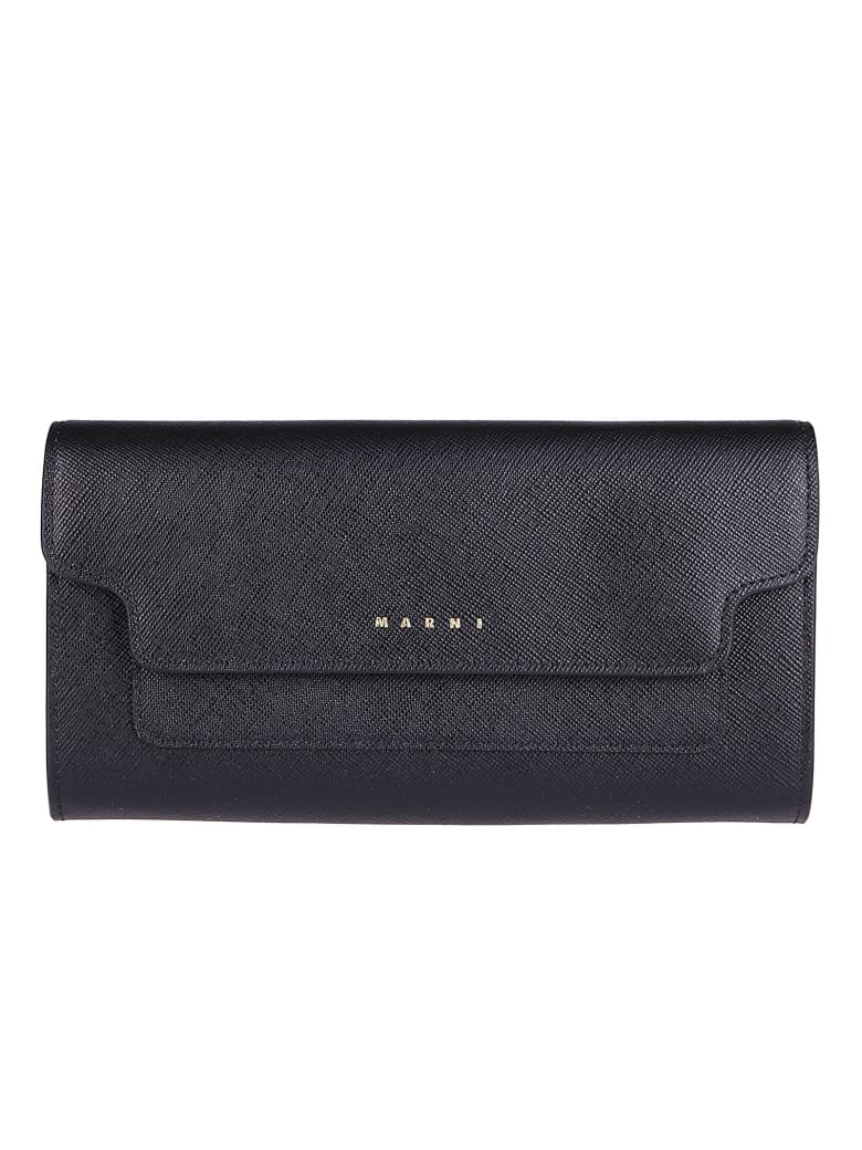 Marni Black Leather Wallet - Black