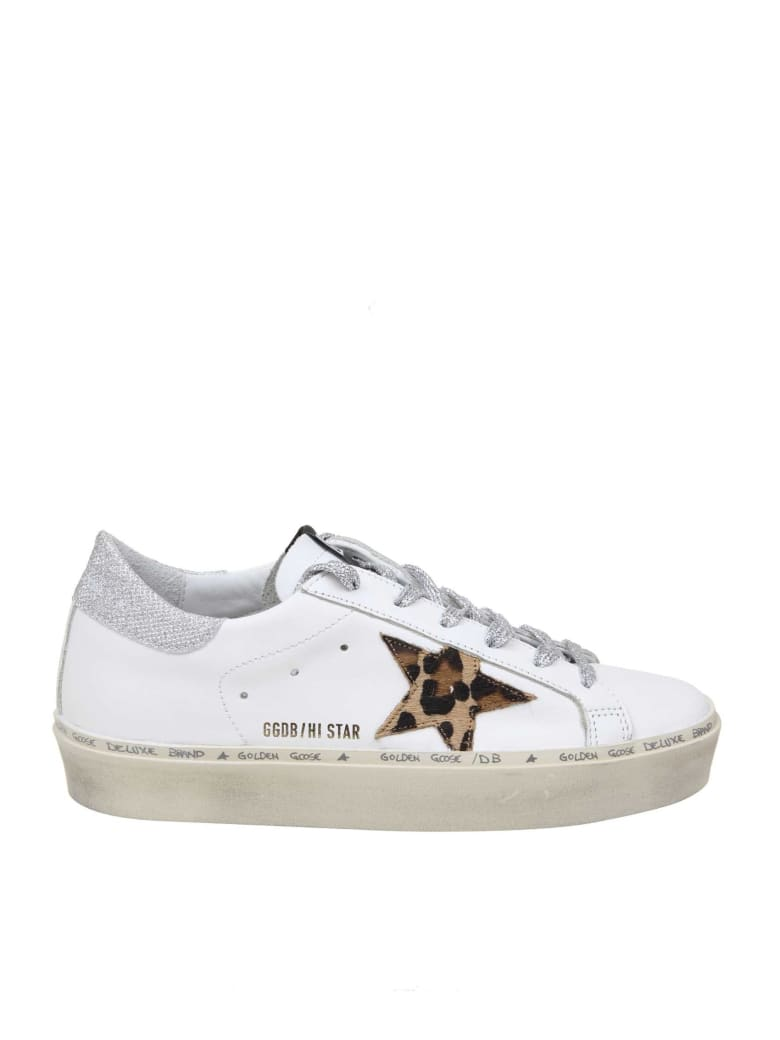 Golden Goose Hi Star Sneakers In White Color Leather - White