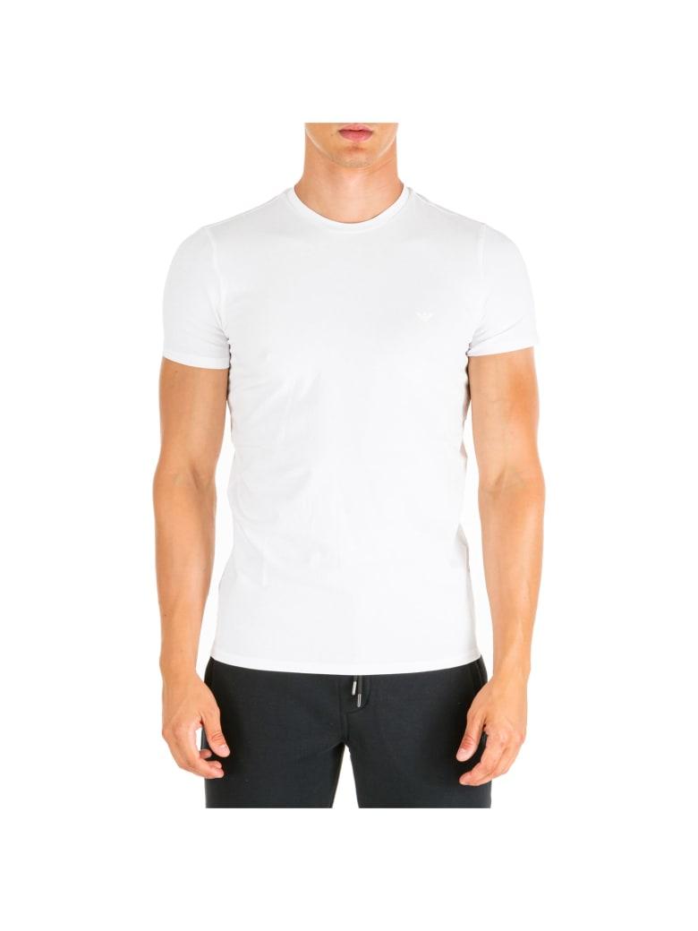 Emporio Armani  Short Sleeve T-shirt Crew Neckline Jumper - Bianco Ottico