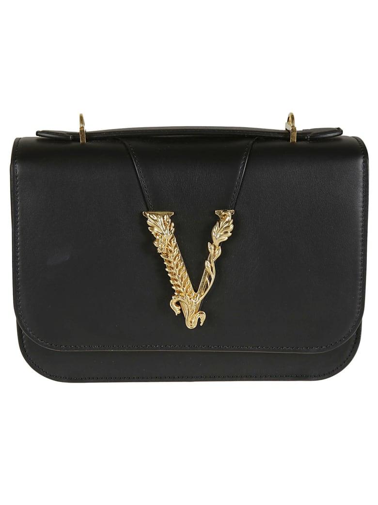 Versace Hampshire Vintage Check Shoulder Bag - black