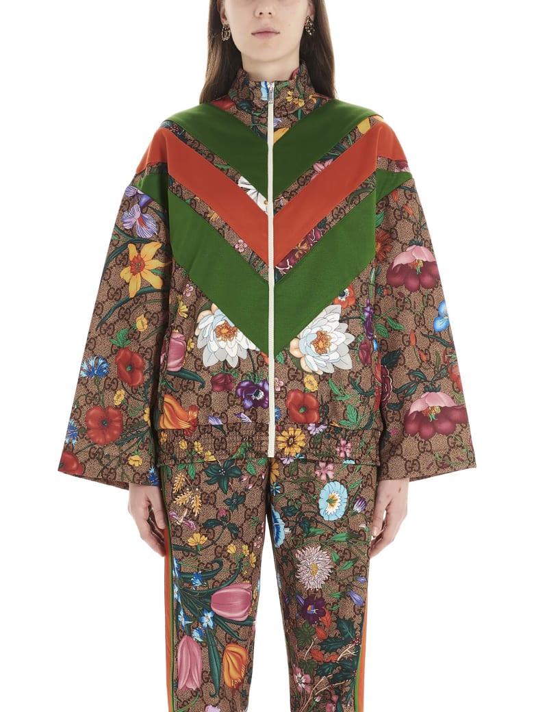 Gucci 'gg Supreme Flora' Sweatshirt - Multicolor
