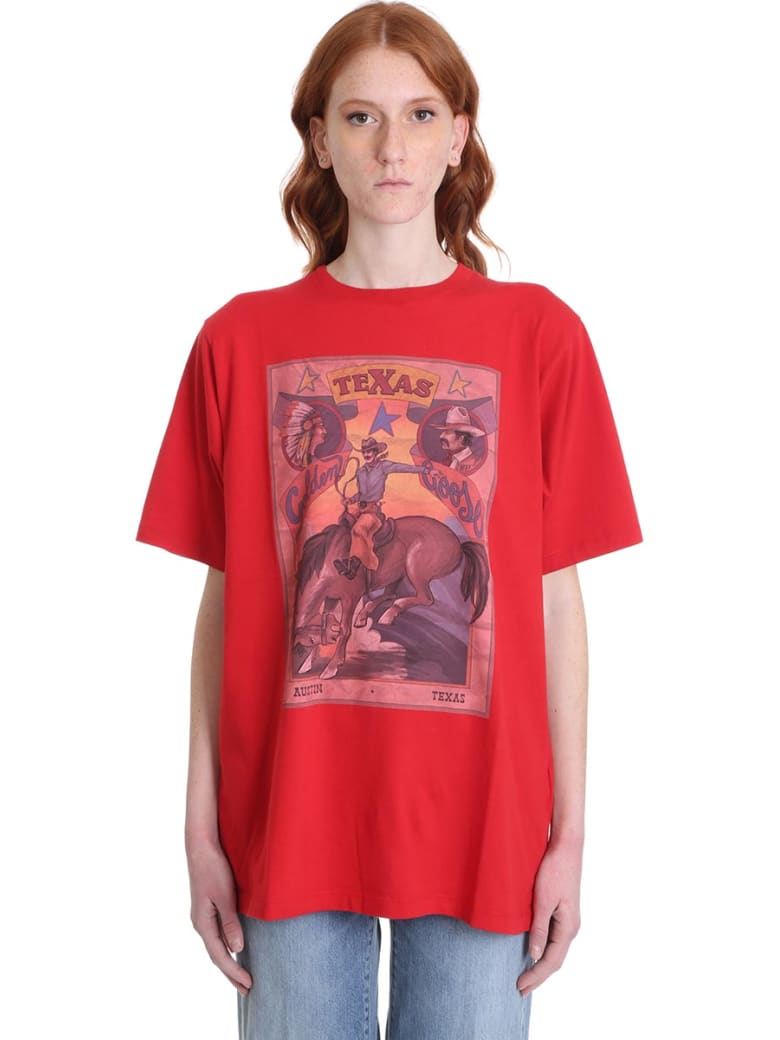 Golden Goose Over Var T-shirt In Red Cotton - red