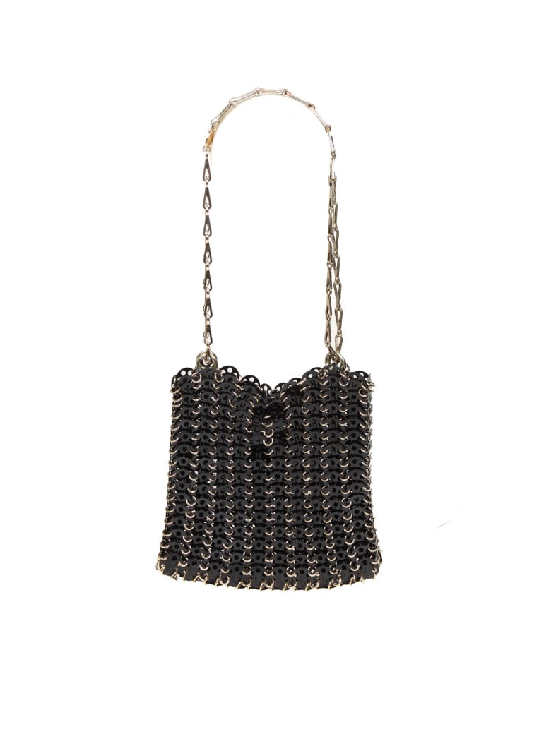 Paco Rabanne 1969 Bag With Metallic Rings -  Black/Gold