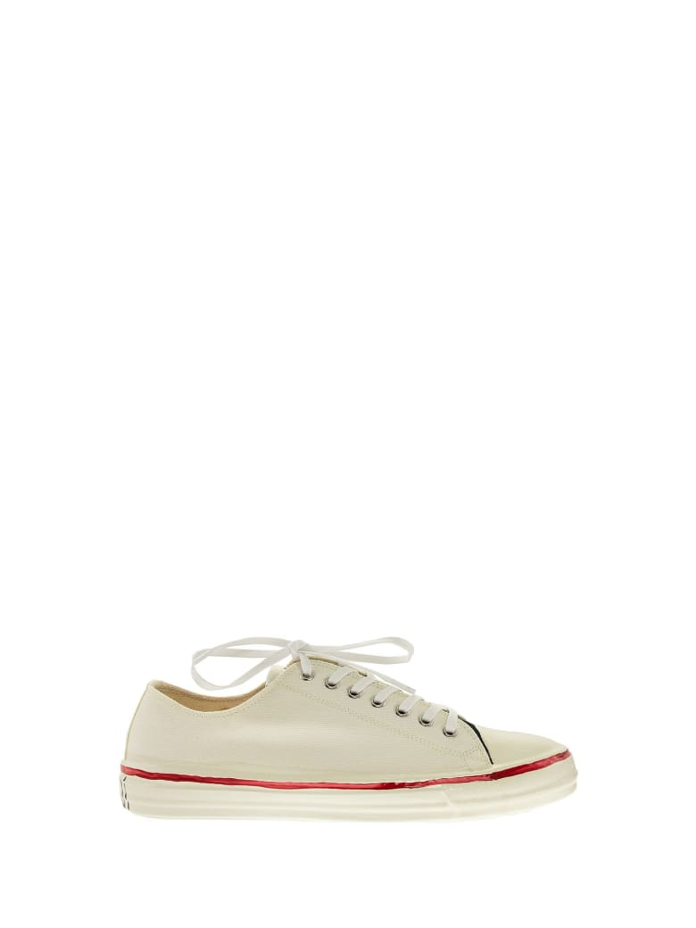 Marni Gooey - Low-top Sneakers In Canvas And Rubber - White