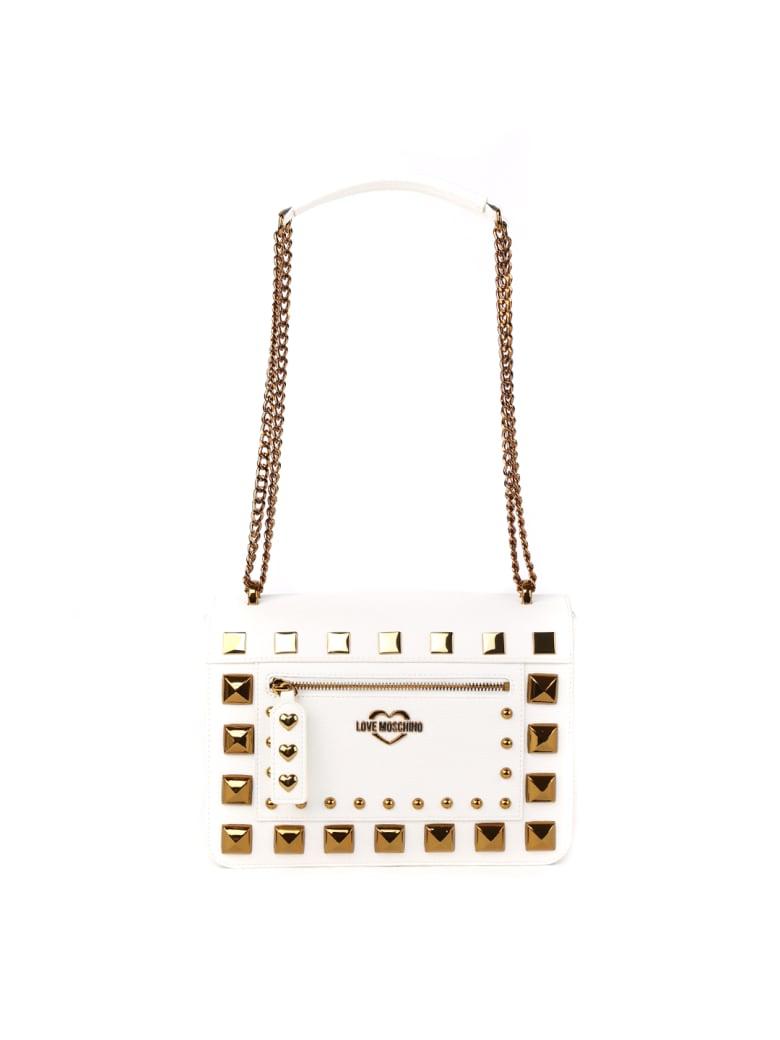 Love Moschino White Studs Mini Bag - White