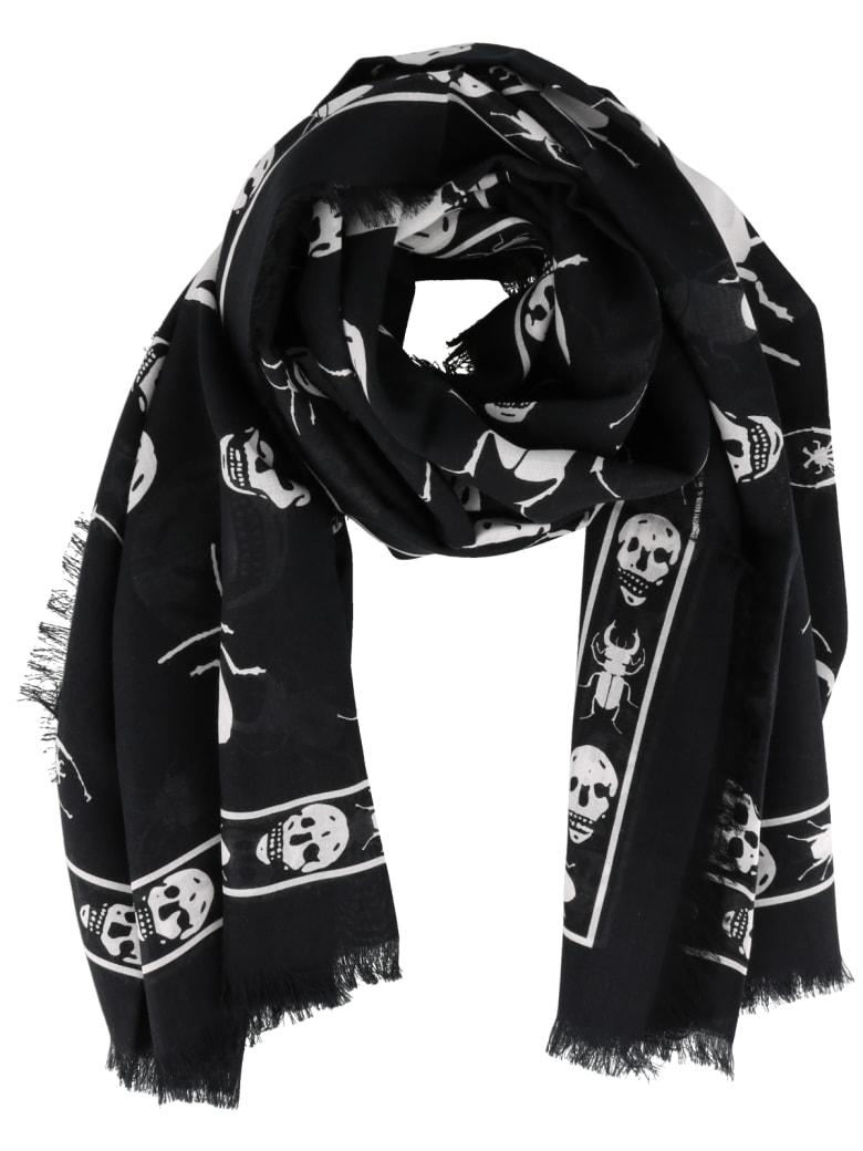 Alexander McQueen Skull Foulard - Black