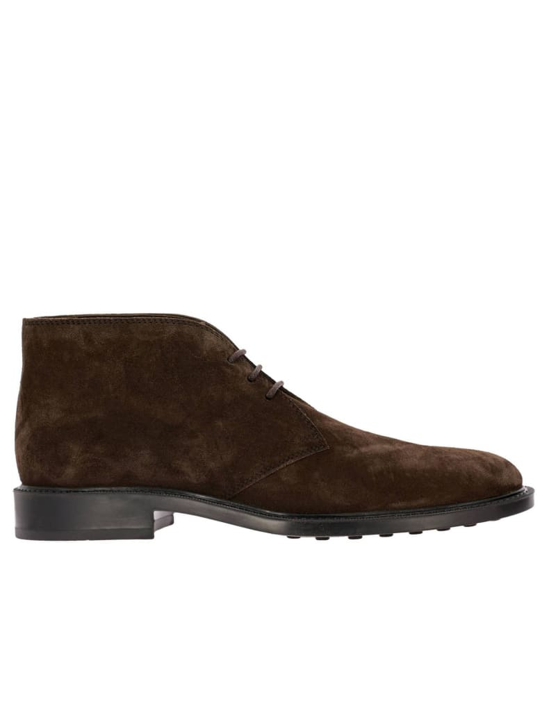 Tod's Chukka Boots Tod's Lace-up Suede Chukka Boots With Rubber Bottom - dark
