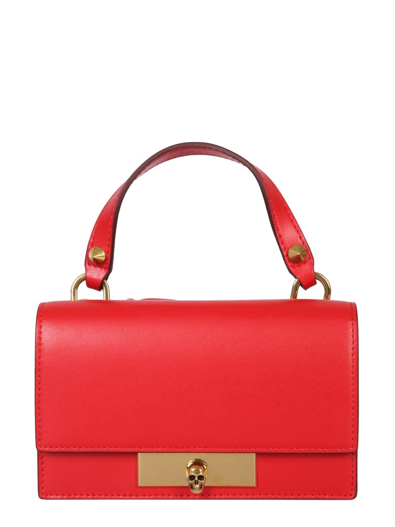 Alexander McQueen Bag With Skull Closure - Rosso