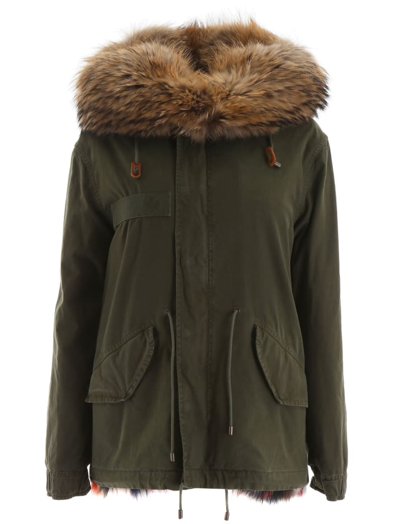 Mr & Mrs Italy Mini Jazzy Parka With Fur - LONDON GREEN (Green)