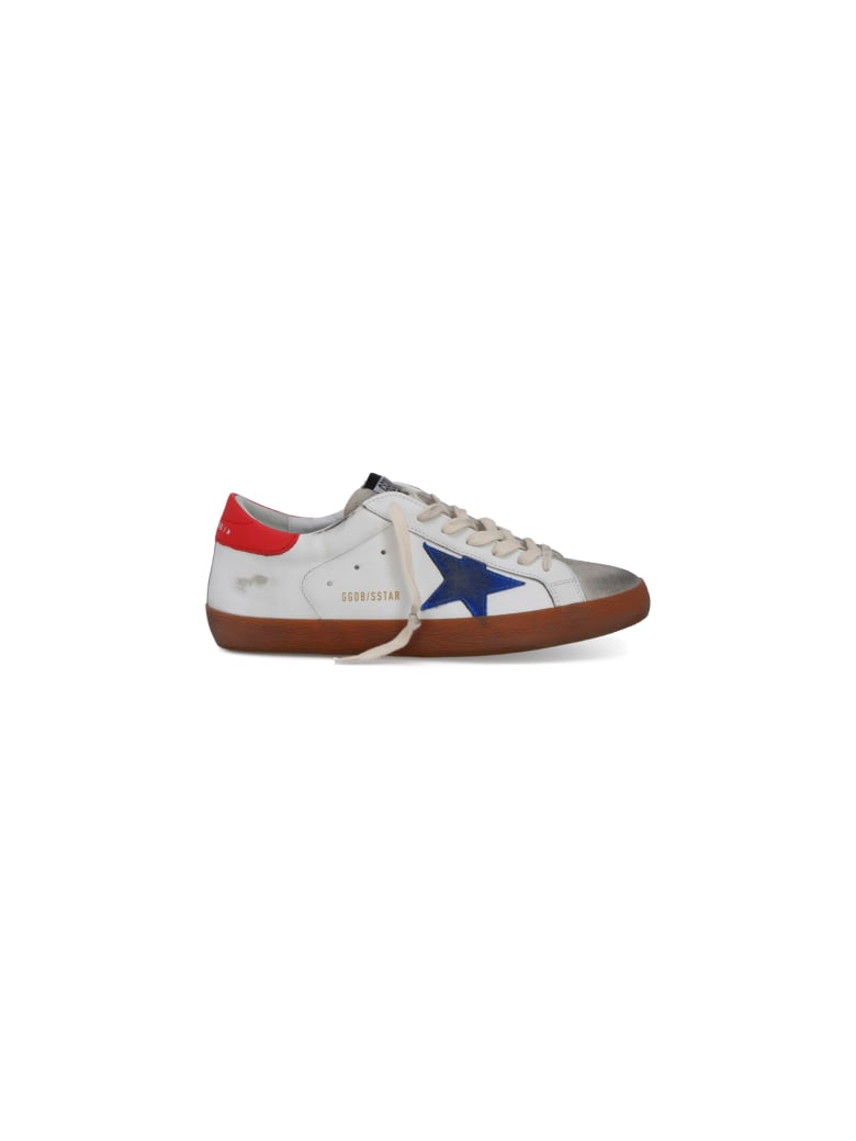 Golden Goose Superstar Sneakers - White/ice/bluette/red