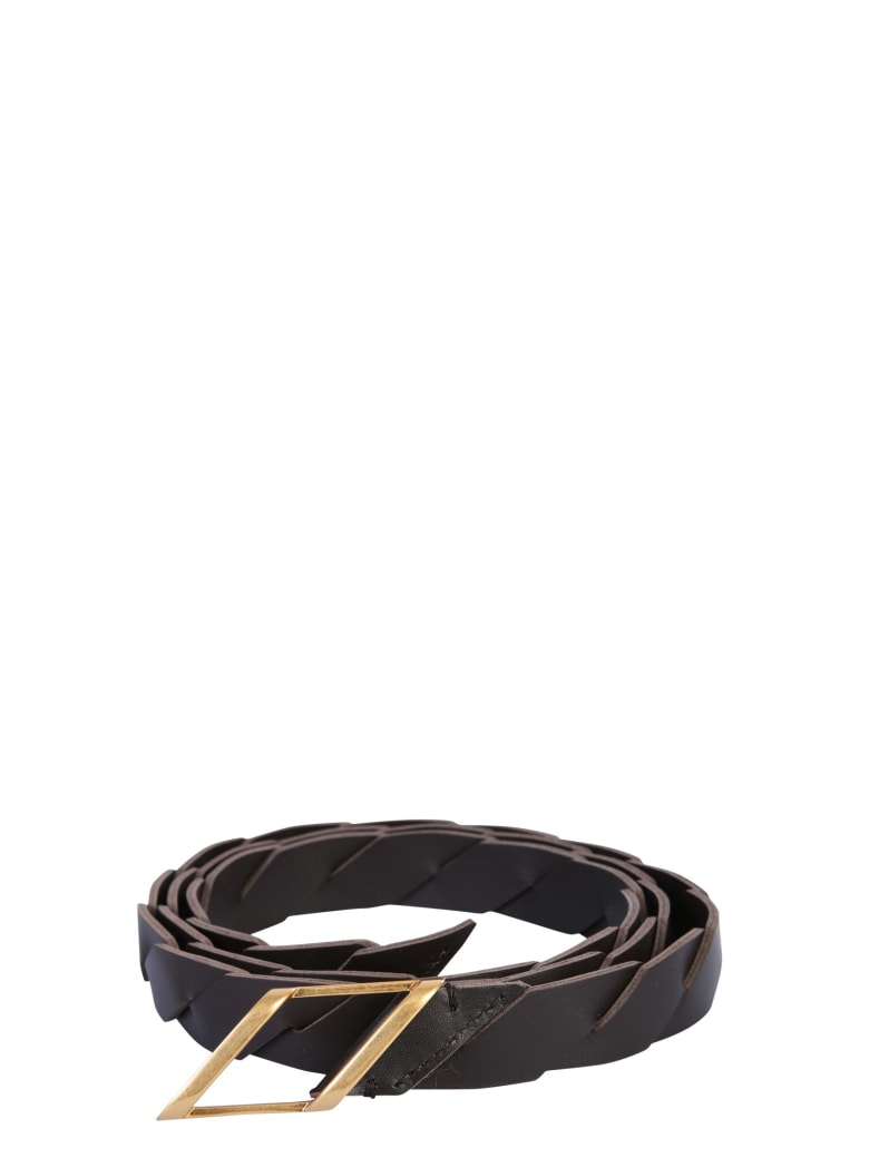 Bottega Veneta Belt With Buckle - MARRONE