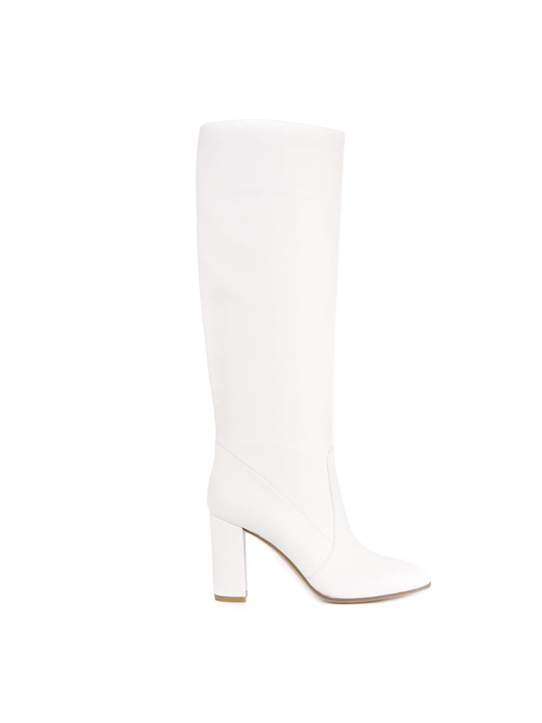 Gianvito Rossi White Leather Boots - White