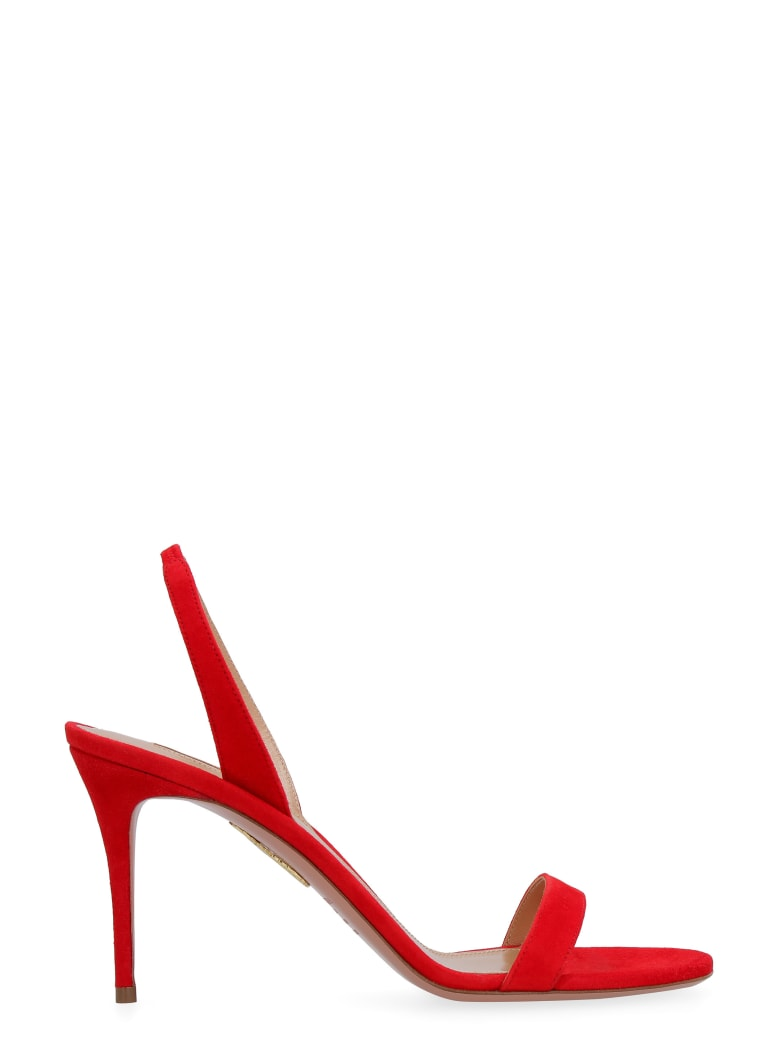 Aquazzura So Nude Suede Sandals - red