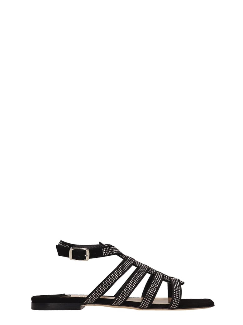 The Seller Black Suede Sandals - black