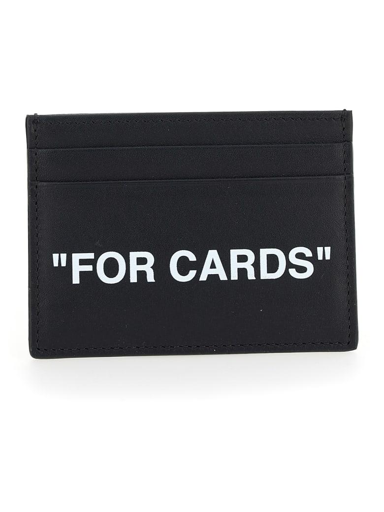 Off-White Card Holder - Black white