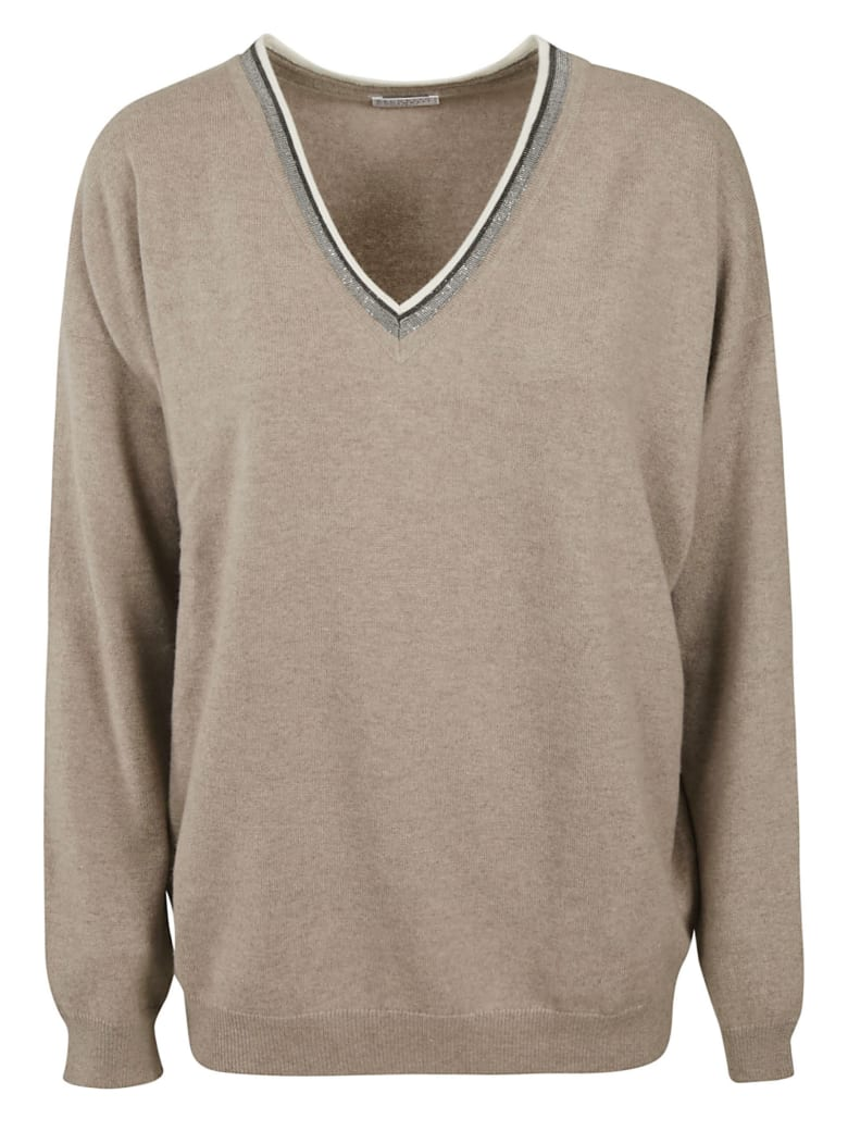 Brunello Cucinelli V-neck Sweater - Birch