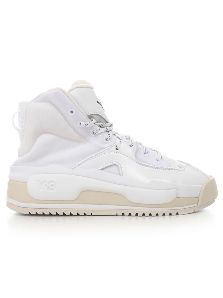 Y-3 Hokori Ankle Boots - Off White Ftwr White